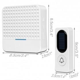 Forecum Alarm Pintu Wireless Waterproof dengan Solar Power - D009 - White - 2
