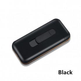 Focus Kotak Rokok 20 Slot dengan Korek Elektrik Pyrotechnic - DH-9010 - Black - 2