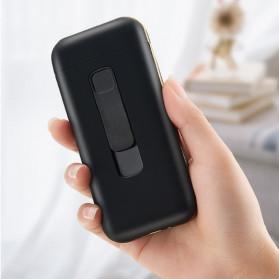 Focus Kotak Rokok 20 Slot dengan Korek Elektrik Pyrotechnic - DH-9010 - Black - 5