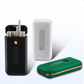 Focus Kotak Rokok 20 Slot dengan Korek Elektrik Pyrotechnic - DH-9010 - Black - 6