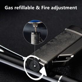 Firetric Focus Korek Api Butane Compact Torch Lighter - CL004 - Black - 3