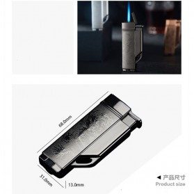Firetric Focus Korek Api Butane Compact Torch Lighter - CL004 - Black - 6