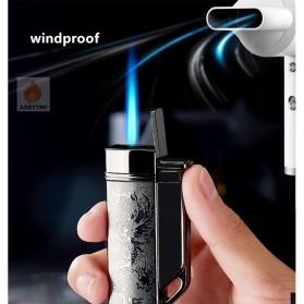 Firetric Focus Korek Api Butane Compact Torch Lighter - CL004 - Black - 8