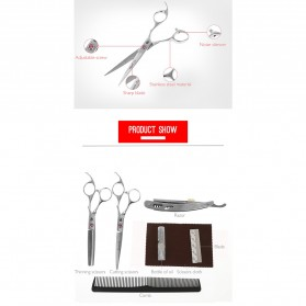 SMITH CHU Gunting Rambut Sasak & Flat Professional Scissors - HM101 - Silver - 3