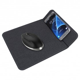 Mouse Pad with Qi Wireless Charging Dock Stand - MWSP01 - Black