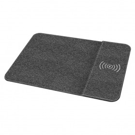 Mouse Pad with Qi Wireless Charging Dock Stand - RIN028 - Black