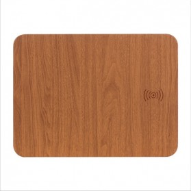 Mouse Pad with Qi Wireless Charging - C184 - Brown - 2