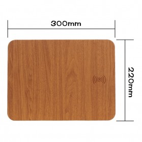 Mouse Pad with Qi Wireless Charging - C184 - Brown - 3