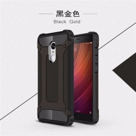 AEFUNDA Hybrid Iron Armor PC Hard Case for Xiaomi Pocophone F1 - Black
