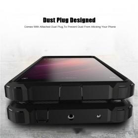 AEFUNDA Hybrid Iron Armor PC Hard Case for Xiaomi Pocophone F1 - Black - 2