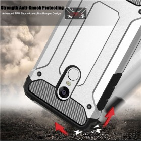 AEFUNDA Hybrid Iron Armor PC Hard Case for Xiaomi Pocophone F1 - Black - 3
