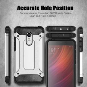 AEFUNDA Hybrid Iron Armor PC Hard Case for Xiaomi Pocophone F1 - Black - 4