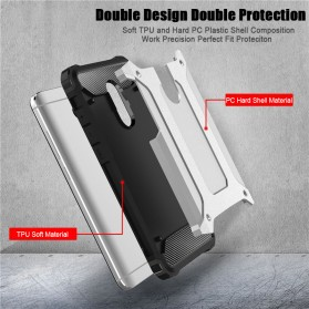 AEFUNDA Hybrid Iron Armor PC Hard Case for Xiaomi Pocophone F1 - Black - 6