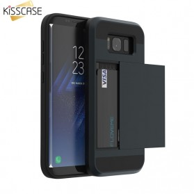 Kisscase Hard Case Credit Card Slot for Samsung Galaxy Note 9 - 64160 - Black