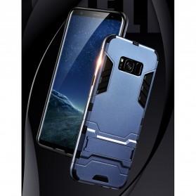 BROEYOUE Armor Hard Case with Kickstand for Samsung Galaxy S9 - Black - 6