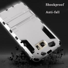 BROEYOUE Armor Hard Case with Kickstand for Samsung Galaxy S9 - Black - 8