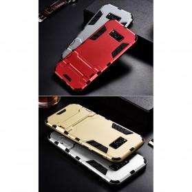 BROEYOUE Armor Hard Case with Kickstand for Samsung Galaxy S9 - Black - 10