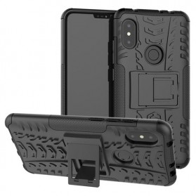 BROEYOUE Armor Hard Case with Kickstand for Xiaomi Redmi Note 6 Pro - Black