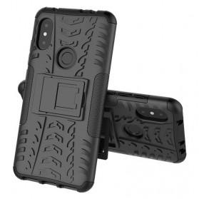 BROEYOUE Armor Hard Case with Kickstand for Xiaomi Redmi Note 6 Pro - Black - 2