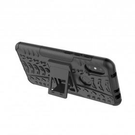 BROEYOUE Armor Hard Case with Kickstand for Xiaomi Redmi Note 6 Pro - Black - 5