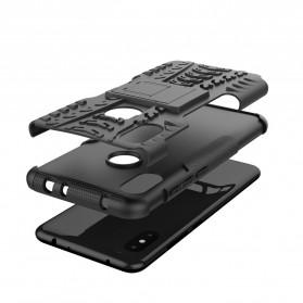BROEYOUE Armor Hard Case with Kickstand for Xiaomi Redmi Note 6 Pro - Black - 6