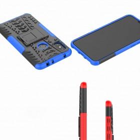 BROEYOUE Armor Hard Case with Kickstand for Xiaomi Redmi Note 6 Pro - Black - 7
