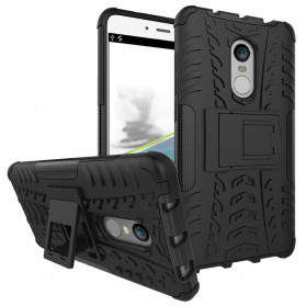 BROEYOUE Armor Hard Case with Kickstand for Xiaomi Pocophone F1 - Black