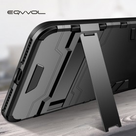 Eqvvol Armor Hard Case with Kickstand for iPhone XR - Black - 3