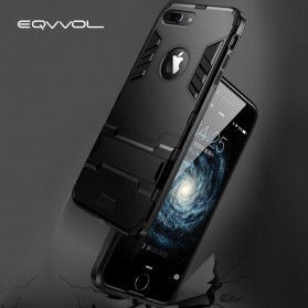 Eqvvol Armor Hard Case with Kickstand for iPhone XR - Black - 6