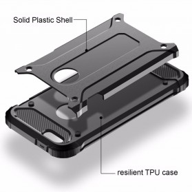 MLLSE Strong Shockproof Armor PC Hard Case for iPhone XS - Black - 3