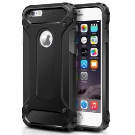 MLLSE Strong Shockproof Armor PC Hard Case for iPhone XR - Black