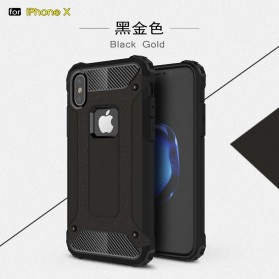 MLLSE Strong Shockproof Armor PC Hard Case for iPhone XS Max - Black - 3
