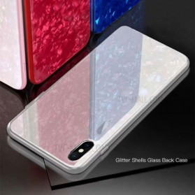 Remax Proda Glass Phone Glitter Shell 3D for iPhone XS Max - Red - 5