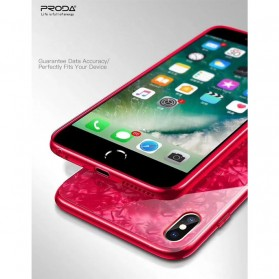 Remax Proda Glass Phone Glitter Shell 3D for iPhone XS Max - Red - 6