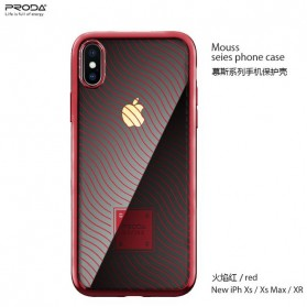 Proda Mouss Series Casing TPU Case for iPhone XS Max - Red