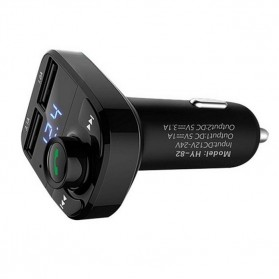Bluetooth Audio Receiver FM Transmitter Handsfree with USB Car Charger - HY82 - Black - 2