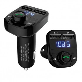 Bluetooth Audio Receiver FM Transmitter Handsfree with USB Car Charger - HY82 - Black - 3