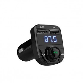 Bluetooth Audio Receiver FM Transmitter Handsfree with USB Car Charger - HY82 - Black - 4