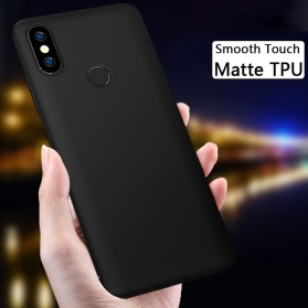 Matte TPU Case for Xiaomi Mi Max 3 - Black
