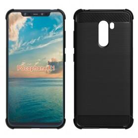 TPU Silicone Case Carbon Fiber for Xiaomi Pocophone F1 - Black