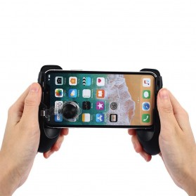 Smartphone Gamepad Hand Grip Holder with Stand & Joystick - JL01 - Black