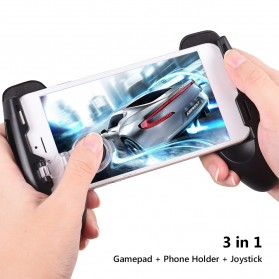Smartphone Gamepad Hand Grip Holder with Stand & Joystick - JL01 - Black - 2