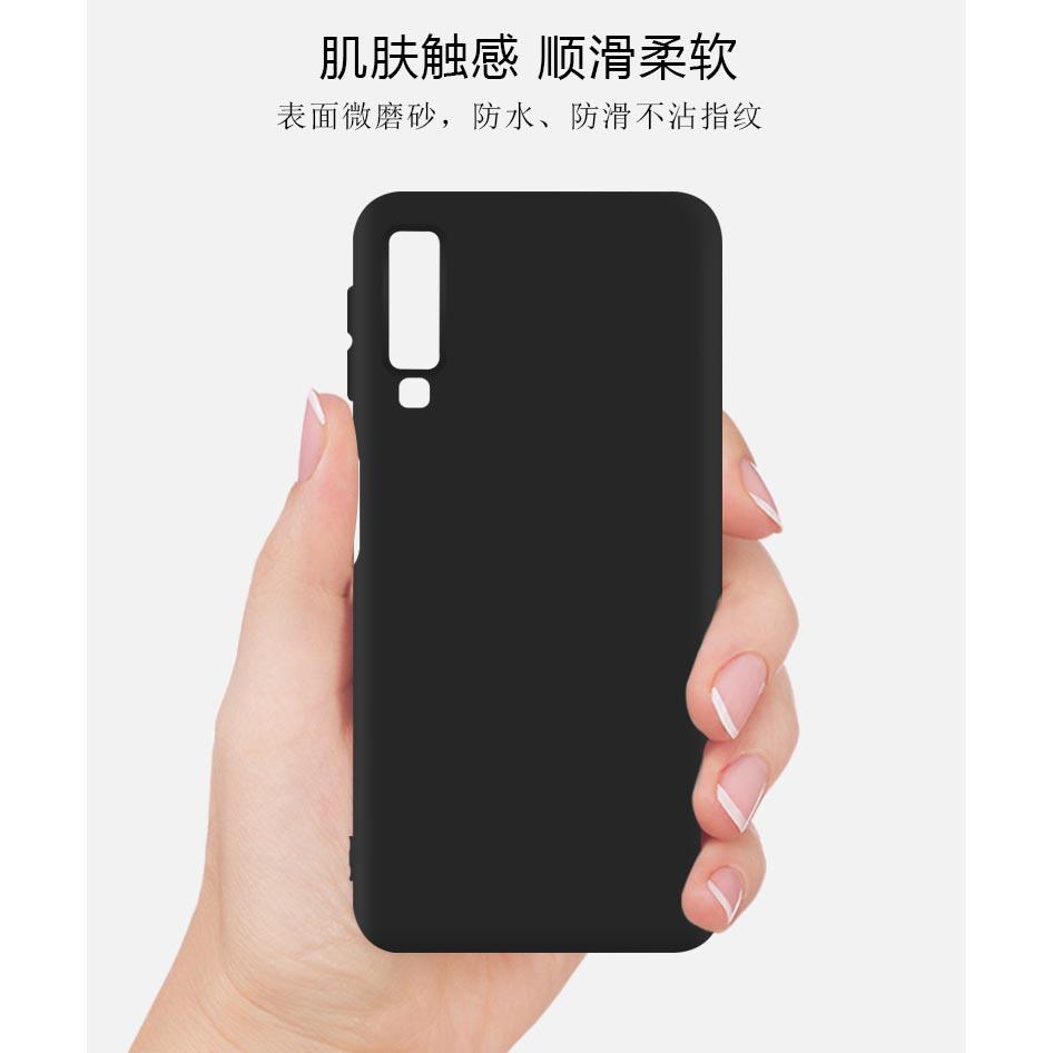 sale retailer 80f68 79d26 Matte Hard Case for Samsung Galaxy A7 2018 - S101 - Black