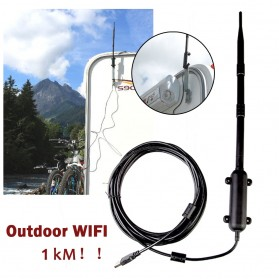 ALLOYSEED USB WiFi Antena Outdoor High Power Signal Amplifier 1000 Meter - 117991