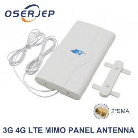 Oserjep MIMO External Antena 3G 4G LTE Dual SMA Connector 700-2600mhz 88dBi - White