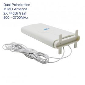 Oserjep MIMO External Antena 3G 4G LTE Dual SMA Connector 700-2600mhz 88dBi - White - 5