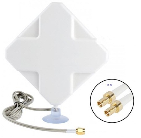 ... 4G LTE MIMO External Antenna for Modem Routers - Dual TS9 Connector - White - 1 ...