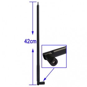 Antenna for Router Network 2.4GHz 22dbi RP-SMA - Black - 1