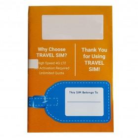 Passpod Travel SIM Card Kartu Internet High Speed 4G LTE Hongkong+Macao 7 Days Unlimited 1.5GB/Day - 2