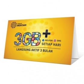 Indosat Mentari 3GB+ Kartu Perdana